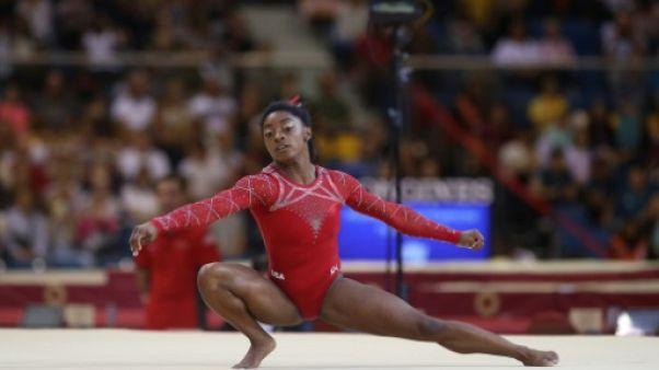 Mondiaux de gymnastique: l'Américaine Simone Biles sacrée au sol, le 14e titre de sa carrière