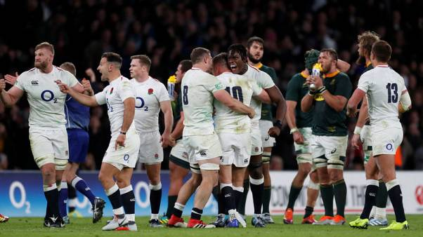 Farrell kicks England to 12-11 win over South Africa