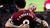 Anderson brace earns West Ham thrilling win over Burnley