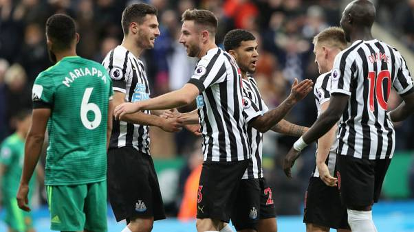 Perez header gives Newcastle first league win this season