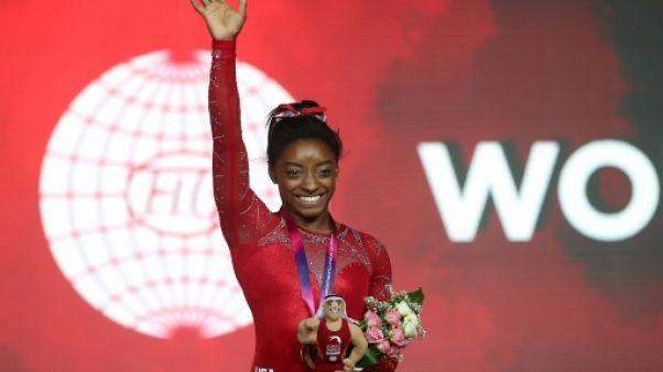 Gym/Mondiaux-2018: Biles conclut son retour sur un nouveau titre et un nouveau record