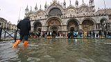Maltempo: Venezia, acqua alta a 105 cm