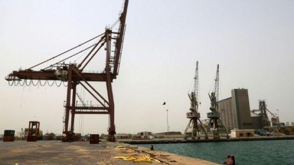 Le port d'Hodeida, au Yémen, le 24 juin 2018