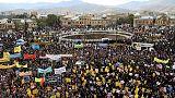 """تجمعات ومسيرات في إيران تهتف """"الموت لأمريكا"""" عشية استئناف عقوبات النفط"""