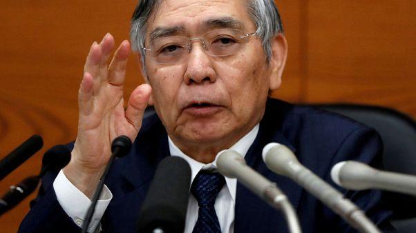 Kuroda says aware BOJ's easy policy hurting banks, warns of global risks
