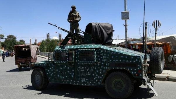 Une patrouille de l'armée afghane à Ghazni le 14 août 2018
