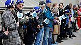 Brexit: chaîne humaine à Londres pour défendre les droits des expatriés