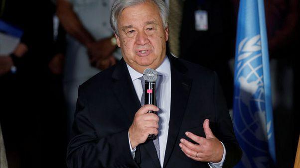 U.N.'s Guterres urges ban on autonomous weapons
