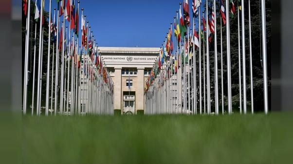 Le siège de l'ONU à Genève, Suisse, le 4 septembre 2018