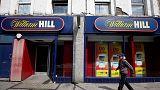 William Hill sees lower profit on weak margins, tough high street