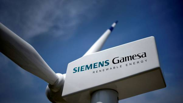 Rising sales of wind turbines lift Siemens Gamesa shares to five-week high