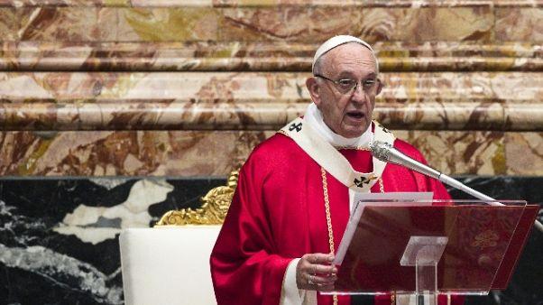 Papa: 'buona politica al servizio pace'