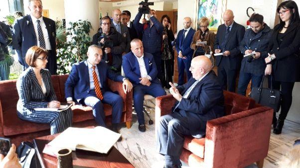 Presidente Albania in visita a Regione
