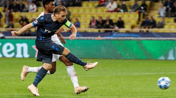 Soccer: Bruges extend misery for winless Henry with 4-0 Monaco triumph