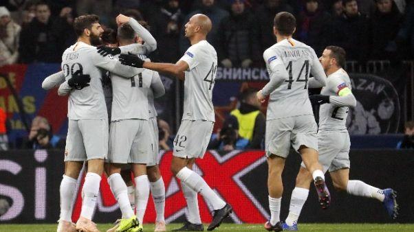 Champions: Cska Mosca-Roma 1-2