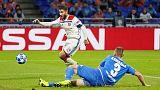 Late goals earn 10-man Hoffenheim 2-2 draw at Lyon
