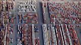 انكماش الفائض التجاري الألماني تأثرا بالتوترات التجارية الأمريكية