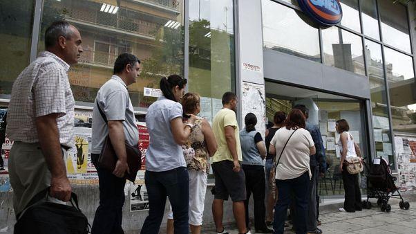 Greek August unemployment drops to 18.9 percent, lowest since Aug. 2011