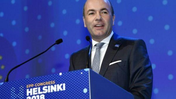Manfred Weber au congrès du PPE à Halsink le 8 novembre 2018