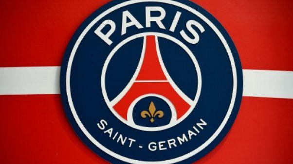 Logo du Paris-SG, au Parc des Princes, le 15 avril 2016