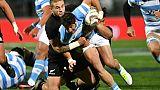 Rugby: l'Argentin Cubelli à la mêlée contre l'Irlande