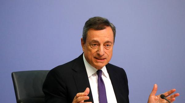 Euro zone growth risks rising but expansion to continue - Draghi