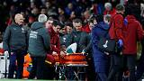 Arsenal's Welbeck given oxygen after serious ankle injury