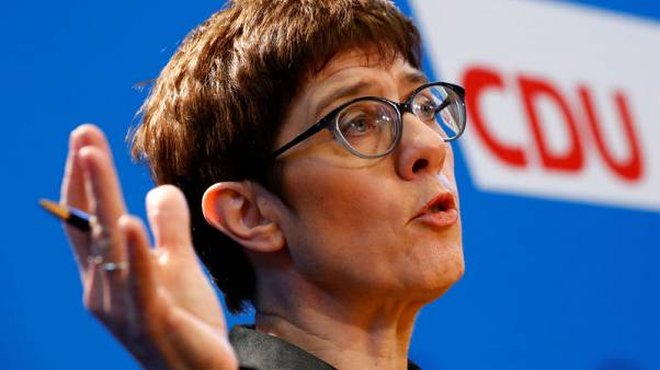 German conservatives back Merkel protege for new CDU leader- poll
