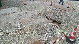 Maltempo: cede piazzetta Portofino