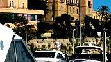Libia, striscione contro vertice Palermo