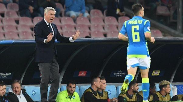 Ancelotti: Juve in fuga, Napoli rincorre