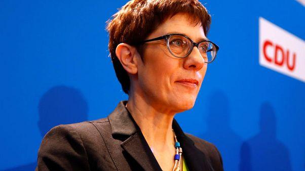 German conservatives lean towards Merkel protege to run CDU - poll