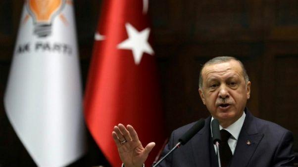 Le président Recep Tayyip Erdogan à Ankara le 6 novembre 2018