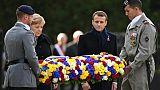 Macron et Merkel dévoilent une plaque pour commémorer l'armistice de 1918