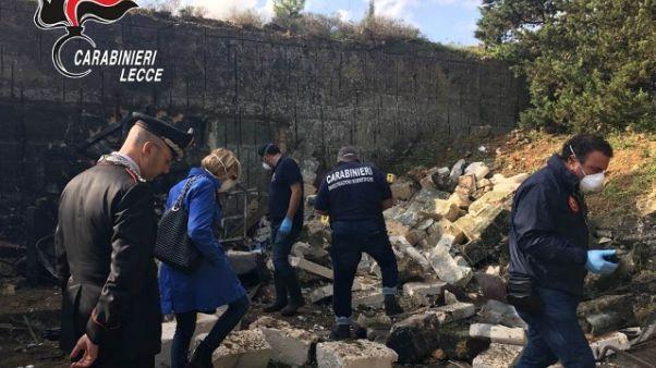 Esplosione ad Arnesano, indagini
