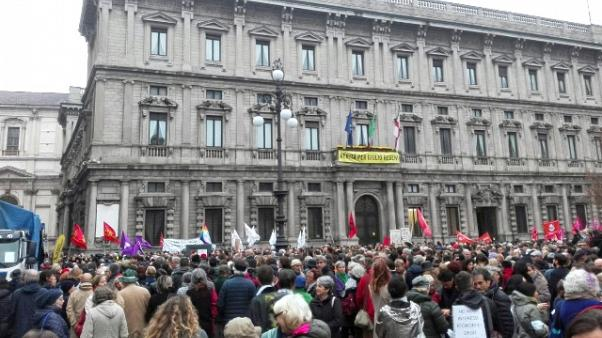 Affido: ddl Pillon, in piazza a Milano