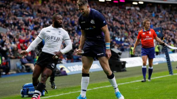 Seymour hat-trick seals comfortable Scotland win over Fiji