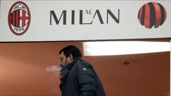 Da Salvini a Becker tanti vip a San Siro