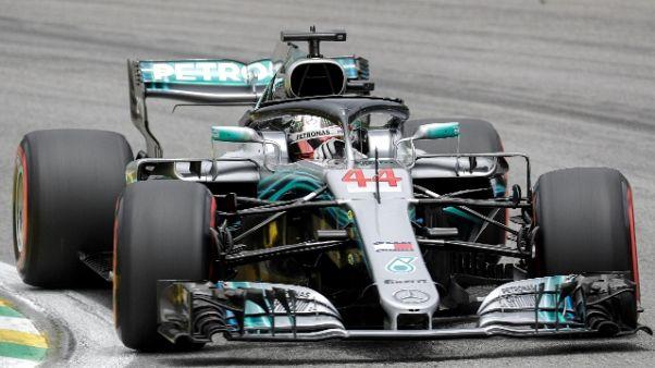 Gp Brasile: pole Hamilton, Vettel 2/o