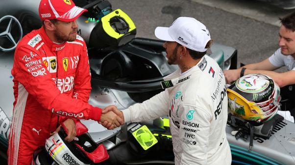 Hamilton on pole in Brazil, Vettel alongside