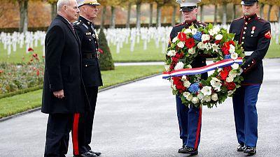 ترامب يغيب عن احتفال بذكرى الحرب الأولى في المقبرة الأمريكية بفرنسا بسبب المطر