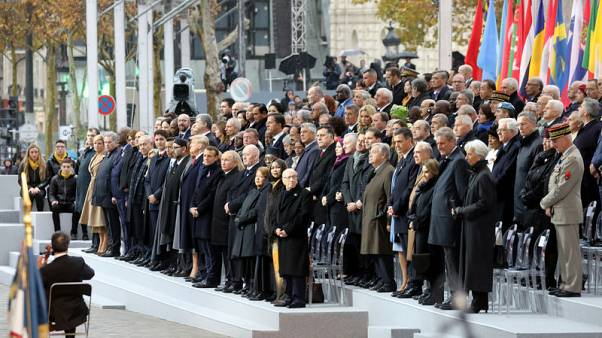 In solemn Paris ceremony, Macron leads WW1 Armistice commemorations