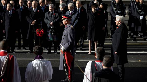 Britain's royals, German president mark remembrance day