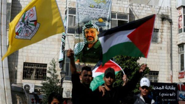 Les Palestiniens marquent le 14e anniversaire du décès d'Arafat
