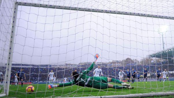 Inter's seven-match winning run ended at Atalanta