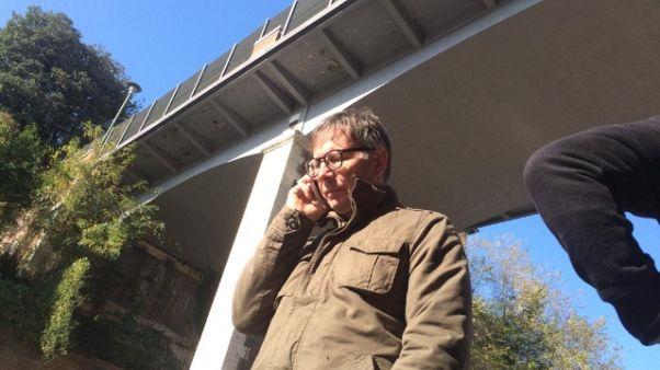 Distacco parti intonaco ponte Ravacciano