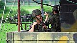 Les deux Corées commencent à détruire des postes de garde frontaliers