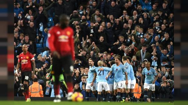 Angleterre: Manchester City remporte le derby contre United 3-1