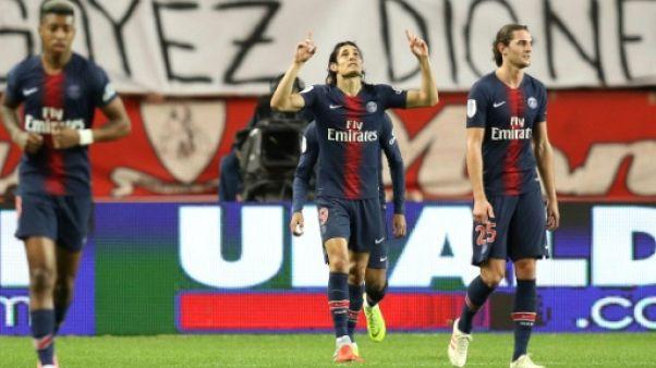 Ligue 1: le Paris SG et Cavani sans pitié pour Monaco
