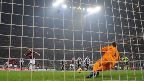 Higuain misses penalty and sent off as Juve win at Milan